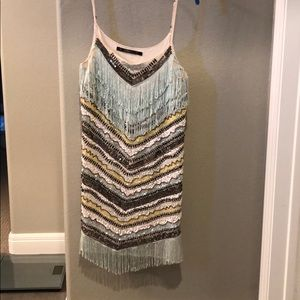 Zara sequin and fringe dress